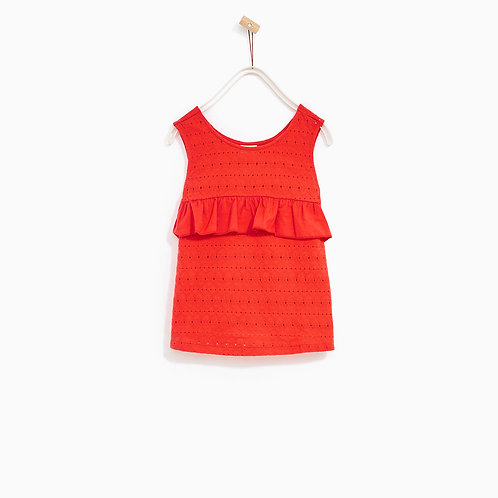 English Embroidered Frill T-Shirt