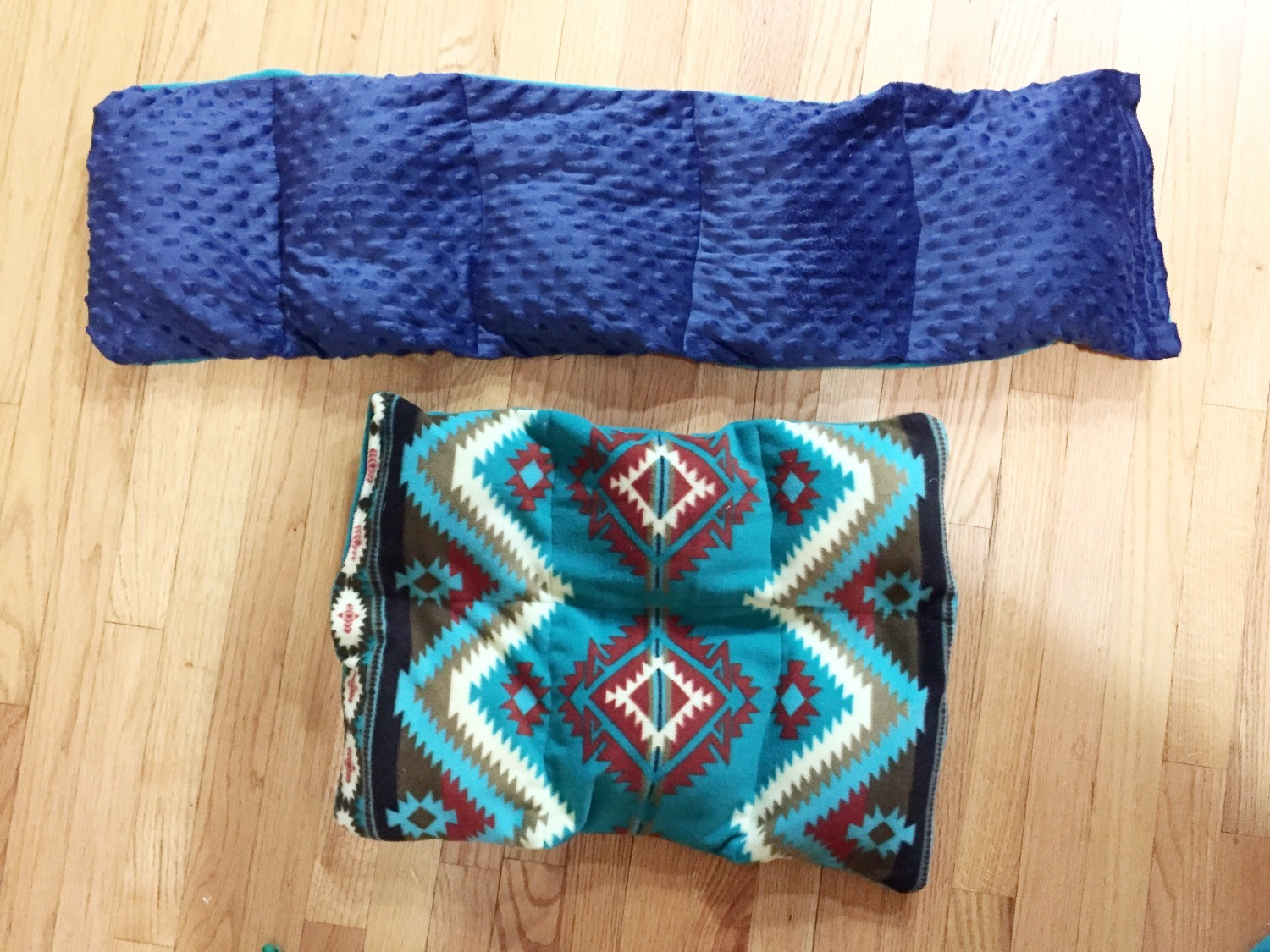 Music therapy DIY weighted lap pads