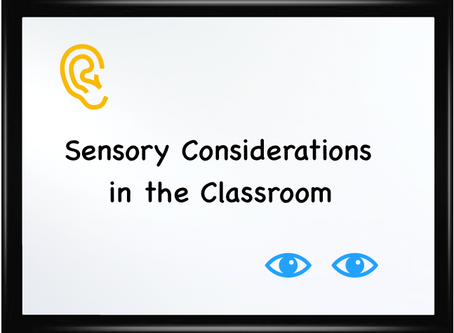 Consider the space: sensory considerations for children on the autism spectrum