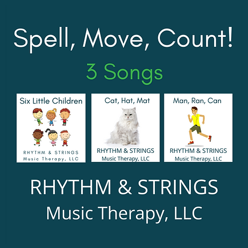 Three songs with visuals for beginning literacy, counting, movement and more!
