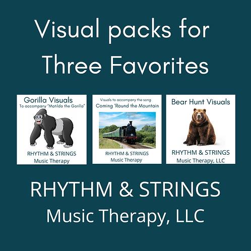 Visual Packs for Three Favorites