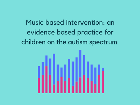Music based intervention: an evidence based practice for children on the autism spectrum