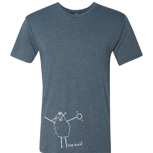 """Ewe rock!"" Unisex Sheep Shirt"