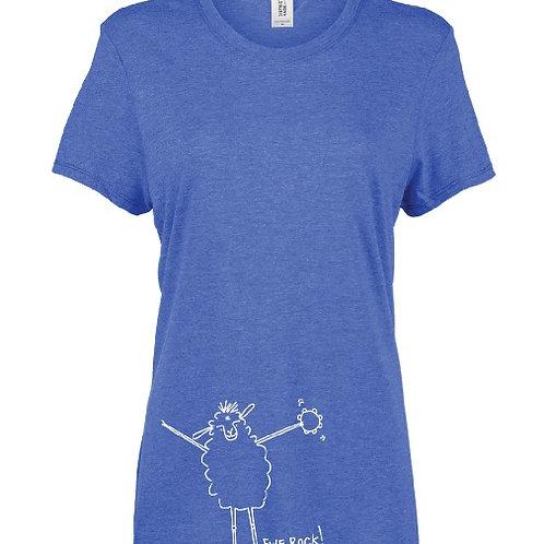 """""""Ewe rock!"""" Women's Sheep Shirt"""