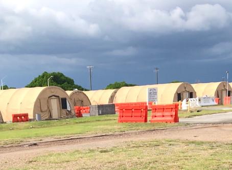 Arrival at Guantanamo Bay