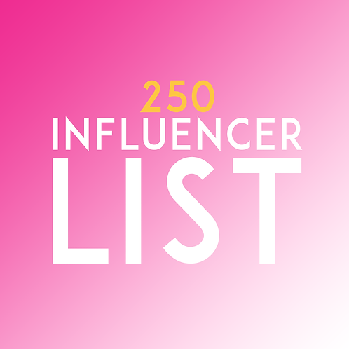 250 Person Influencer List