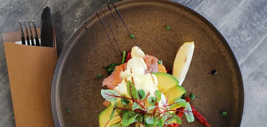 Salmon Avocado Stack Redcliffe Cafe