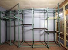 Showroom des Materials Regal