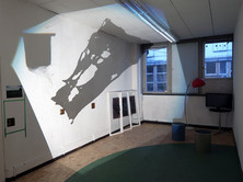 Projektion/Installation von Michelle-Marie Letelier