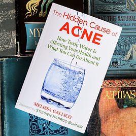 The Hidden Cause of Acne book cover by Melissa Gallico fluoride skin reactions