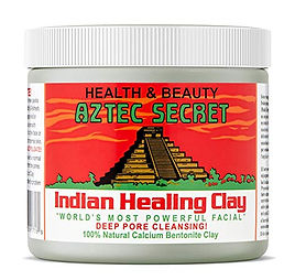 Aztec clay mask with calcium bentonite for home facial for acne skin