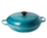 Le Creuset Caribbean blue non toxic fluoride-free cookware pot