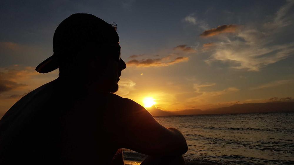 Sunset at White Beach, Moalboal