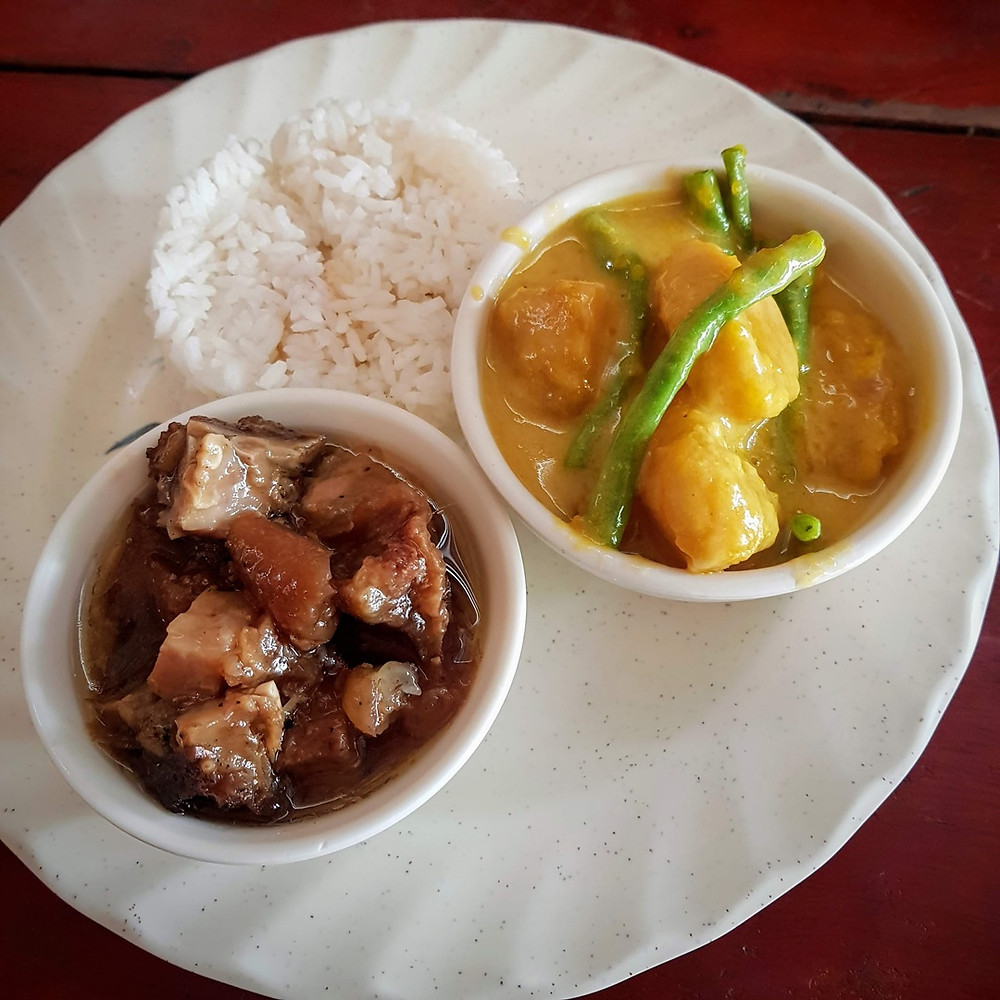 Pork Adobo with Pumpkin & Green beans in Coconut Milk