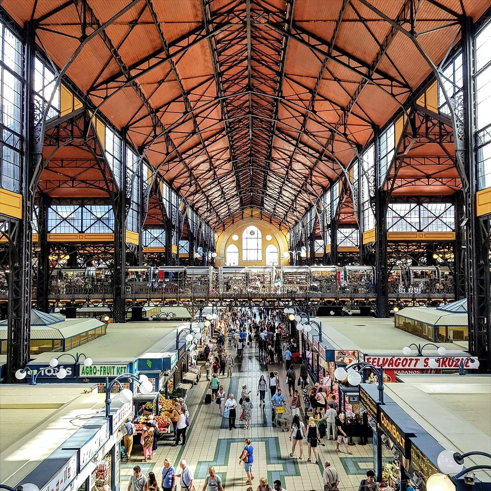 The Great Market Hall in Budapest
