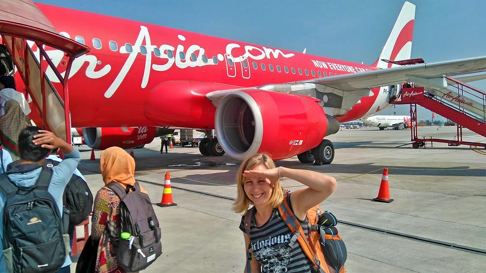 Air Asia flight from Jakarta to Yogyakarta