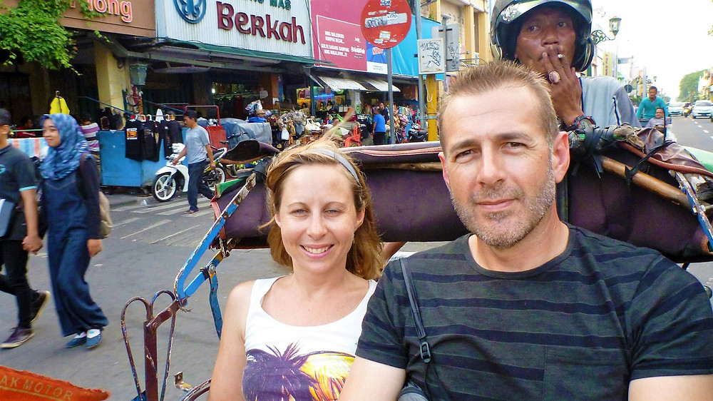 Becak (Cycle Rickshaw) in Yogyakarta