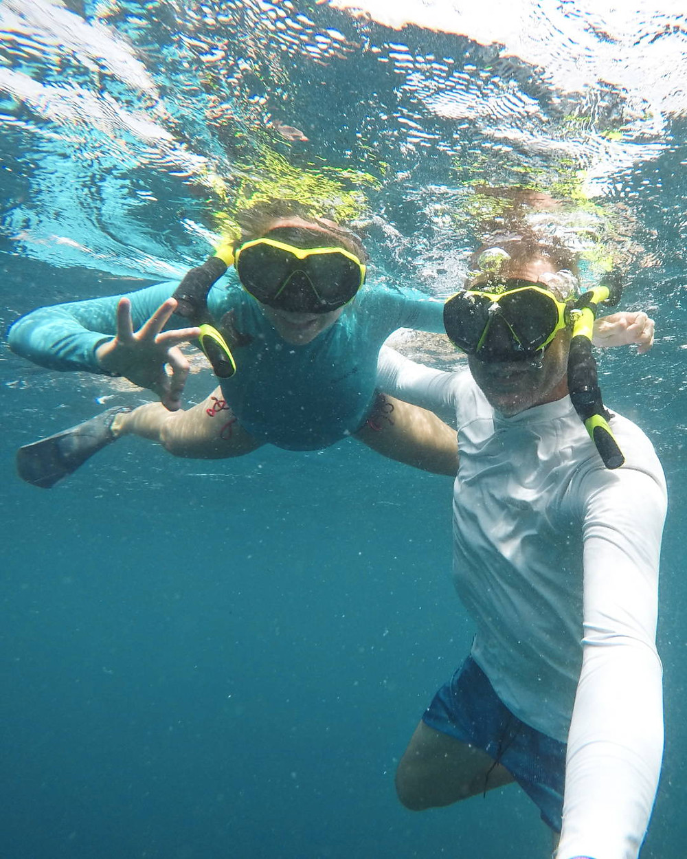 Snorkelling  with turtles in Palawan