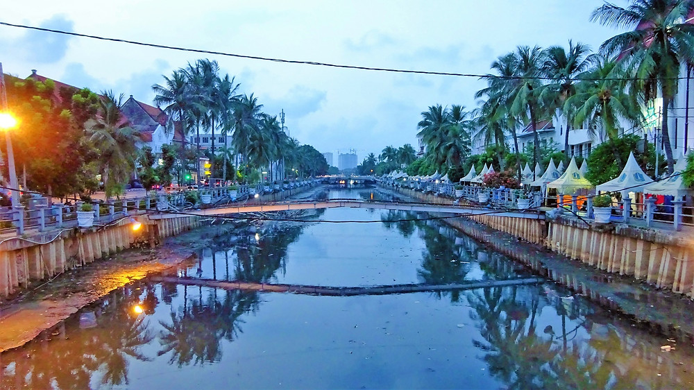 Jakarta city at sunset