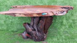 Redwood Burl Slab Table