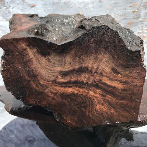 Wood turning blank, craft woods, black redwood burl, bl1044