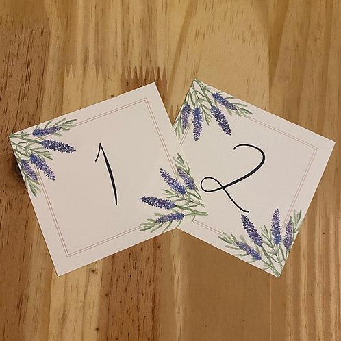 Número de mesa