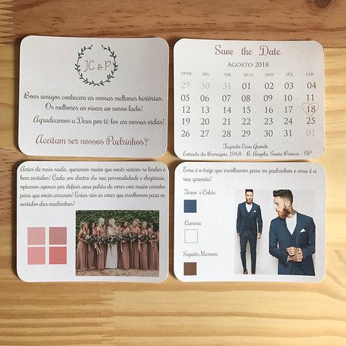 Manual para padrinhos e madrinhas - 4 cartões
