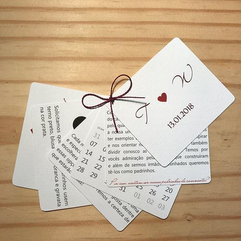 Manual padrinhos com 6 cartões