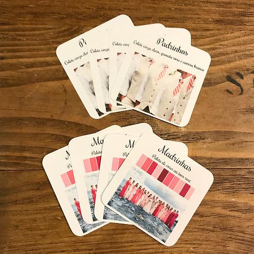 Manual para padrinhos - 2 cartões Paleta e Inspire-se