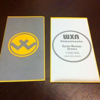 Cartão de visita WXN Comunicação