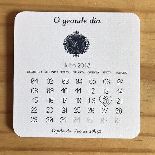 Save the Date Calendário