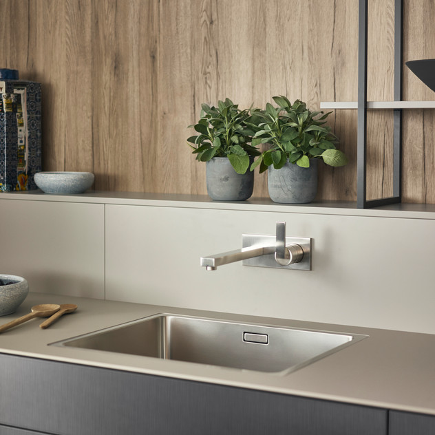 Leicht Metea metallic finish sink cabinet 3