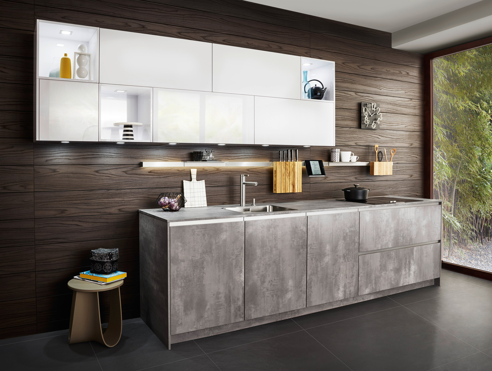 The Room As A Whole, Kitchen, And Living The Area Is One. The Two Surfaces,  Combined In Use Here In A Modern Way, Look Warm And Natural: They Are  Fascinated ...