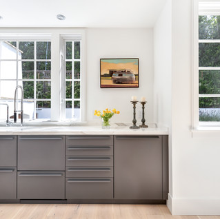 Cape Cod style home: Bondi and Synthia Leicht finishes