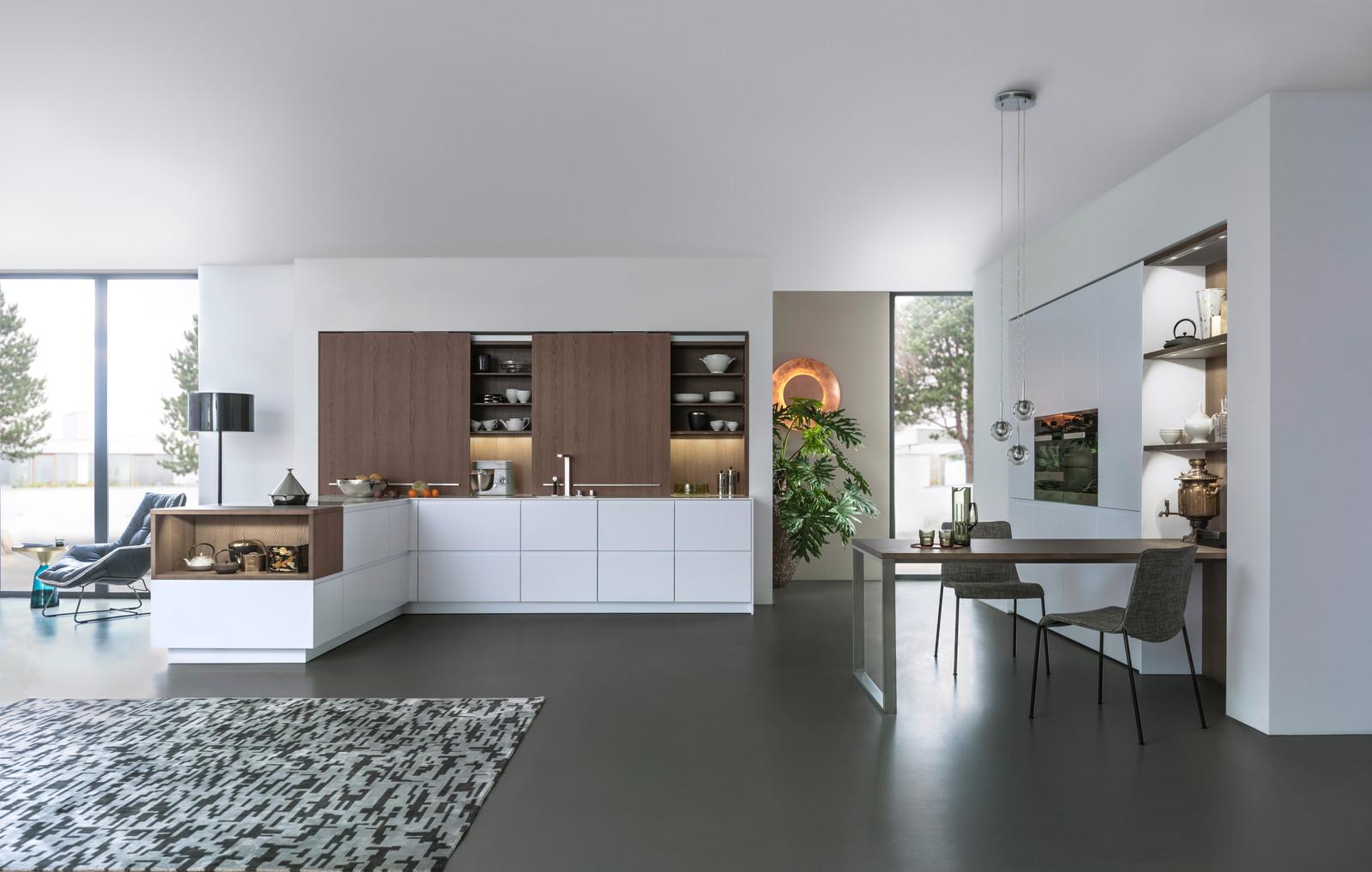 leicht ca - irvine showroom, german kitchen handless