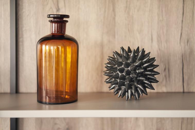 Leicht Metea metallic finish shelf