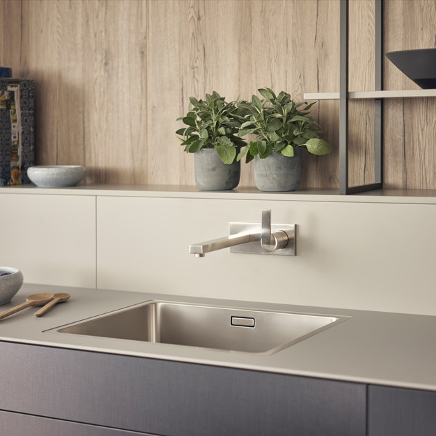 Leicht Metea metallic finish sink cabinet 2