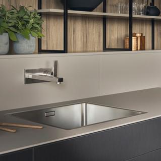 Leicht Metea metallic finish sink cabinet 4