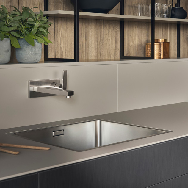 Leicht Metea metallic finish sink cabinet 4