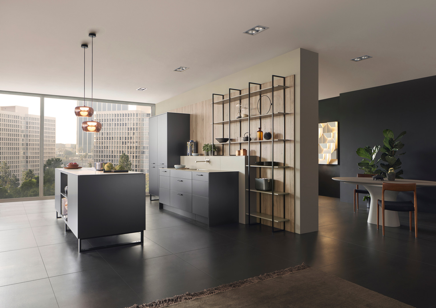 Leicht Metea metallic finish kitchen