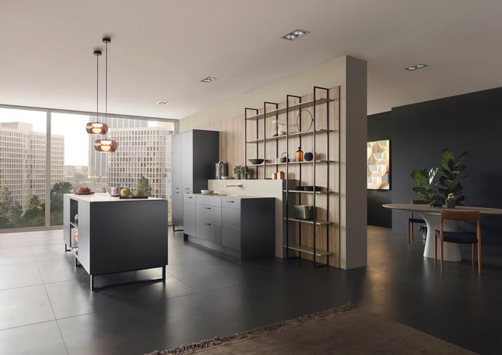 Leicht Metea metallic finish kitchen