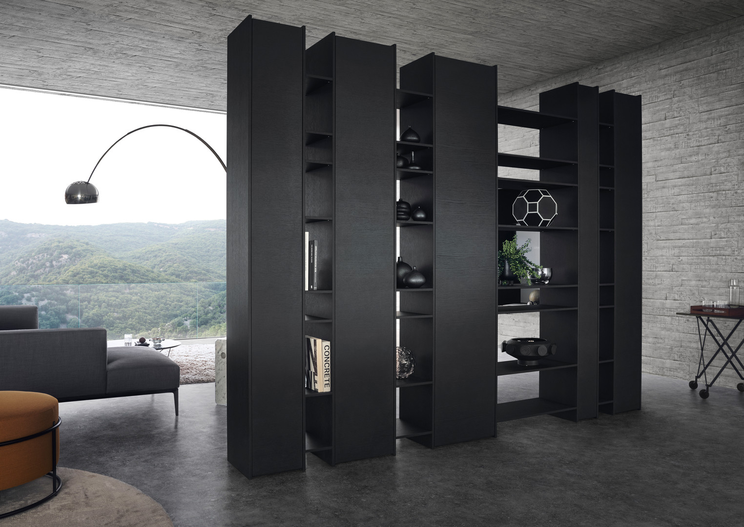 Leicht Topos tall display cabinet