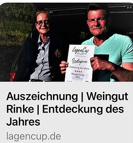 Weingut Rinke - Entdeckung des Jahres 2021 - Berliner Lagencup rot