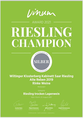 Vinum Riesling Champion 2021