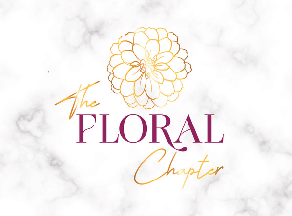 The Floral Chapter florist logo with dahlia icon
