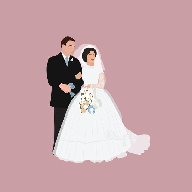 Kariah Wedding Grandparents Alter PINK.j