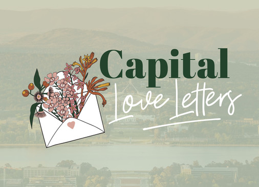 Capital Love Letters logo native botanical flowers in an envelope