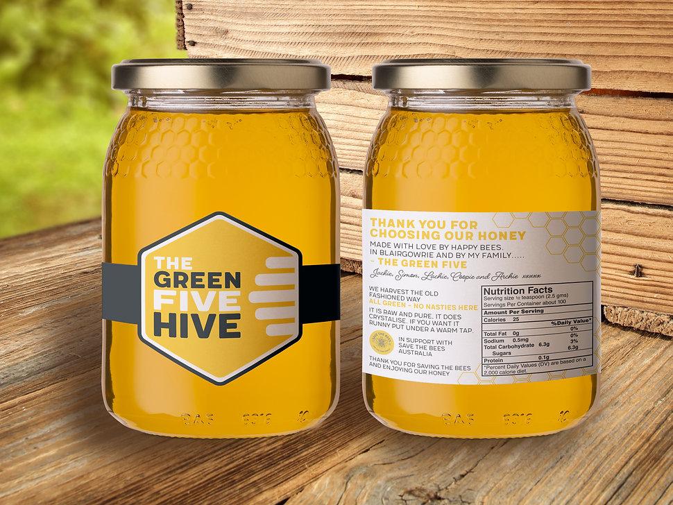The Green Five Hive Honey Jar.jpg