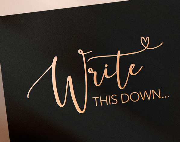 Write this Down Planner, journal logo