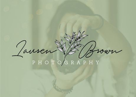 Lauren Brown Photography floral botanical logo